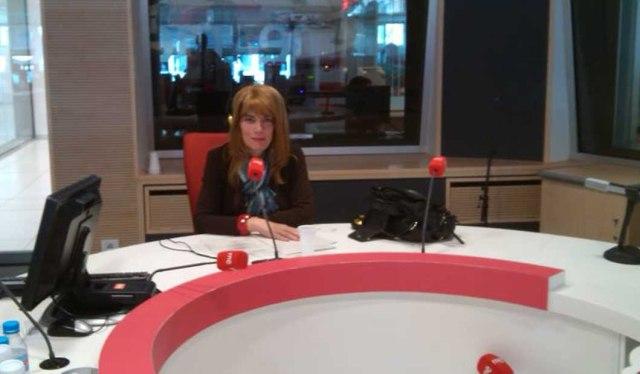 La presidenta de Lesgavila, Amanda Azañón, en Radio 5