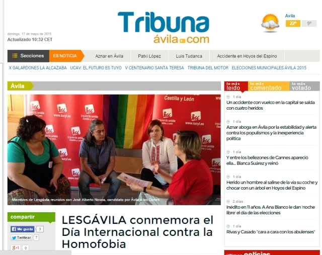 Tribuna-Avila, 15 mayo 2015