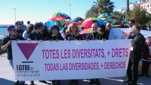 Manifestación durante los 27 Encuentros Estatales LGTBI