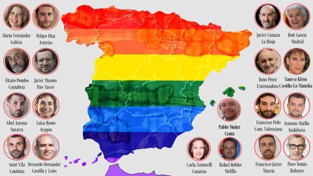 El mapa del poder homosexual en la España de las autonomías: los 90 personajes influyentes